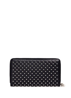 ALEXANDER MCQUEEN Skull charm stud leather continental wallet