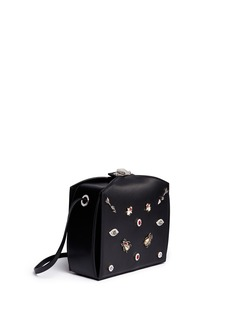 Alexander McQueen 'The Box Bag' in leather with jewelled Obsession charms