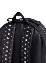 Stud strap leather backpack