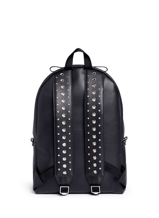 Back View - Click To Enlarge - Alexander McQueen - Stud strap leather backpack