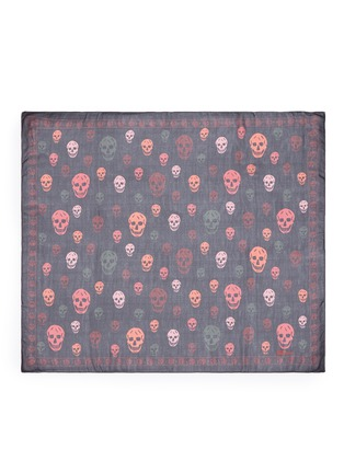 Main View - Click To Enlarge - Alexander McQueen - Bicolour skull silk scarf