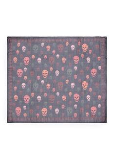 Alexander McQueenBicolour skull silk scarf