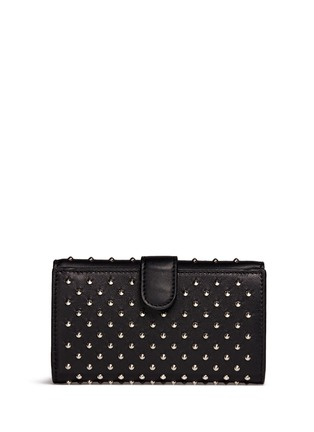 Back View - Click To Enlarge - Alexander McQueen - Skull charm stud leather French wallet