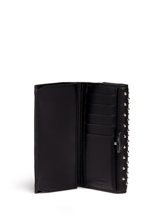 Figure View - Click To Enlarge - Alexander McQueen - Skull charm stud leather French wallet