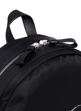 Detail View - Click To Enlarge - Alexander McQueen - Lion skull print nylon backpack