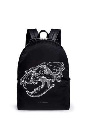 Main View - Click To Enlarge - Alexander McQueen - Lion skull print nylon backpack