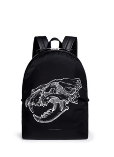 Alexander McQueen Lion skull print nylon backpack