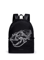 Lion skull print nylon backpack