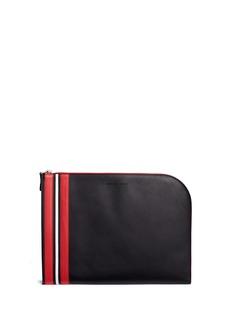 Alexander McQueenStripe leather zip pouch