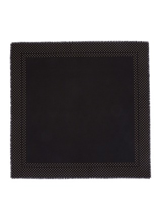 Main View - Click To Enlarge - Alexander McQueen - Stud border skull jacquard scarf
