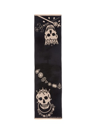 Main View - Click To Enlarge - Alexander McQueen - King and queen skull jacquard scarf