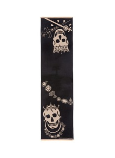 Alexander McQueen King and queen skull jacquard scarf