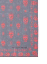 'Kings & Queens' skull silk chiffon scarf