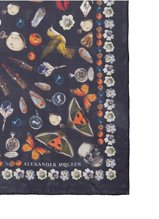 Alexander McQueen - 'Obsessions' butterfly silk chiffon scarf