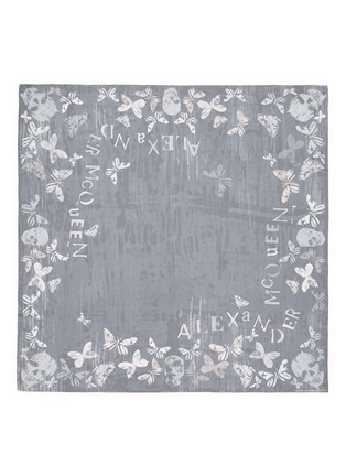 Main View - Click To Enlarge - Alexander McQueen - Bleach effect butterfly print silk chiffon scarf