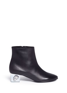 Alexander McQueen Floating skull heel leather ankle boots
