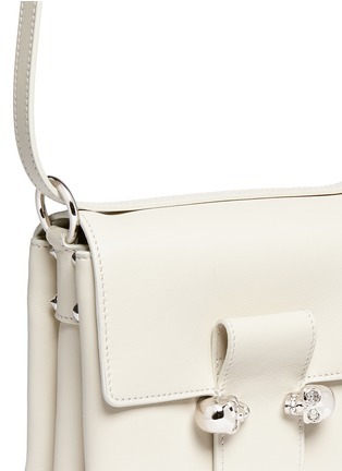 Detail View - Click To Enlarge - Alexander McQueen - Twin skull leather satchel