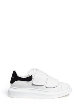 Alexander McQueen - Chunky outsole suede trim leather sneakers