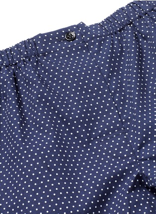 Detail View - Click To Enlarge - Araks - 'Tia' polka dot cotton boxer shorts