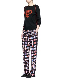 Emilio Pucci Monreale check straight leg suiting pants