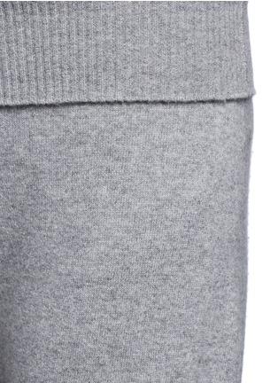 细节 - 点击放大 - AGNONA - 低裆羊绒阔腿裤