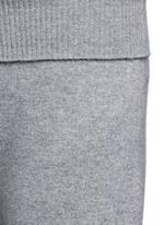 Cashmere knit wide leg pants