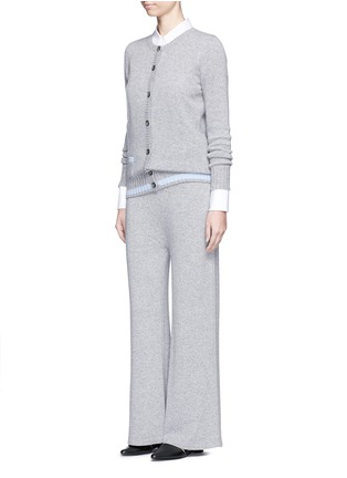 模特儿示范图 - 点击放大 - AGNONA - 低裆羊绒阔腿裤