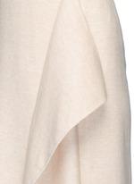 'Groshong' halterneck drape front alpaca-wool dress