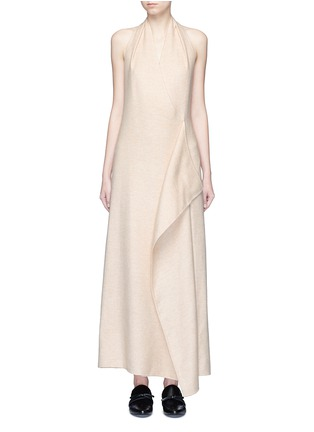 Main View - Click To Enlarge - The Row - 'Groshong' halterneck drape front alpaca-wool dress