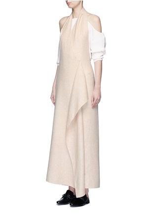 Figure View - Click To Enlarge - The Row - 'Groshong' halterneck drape front alpaca-wool dress