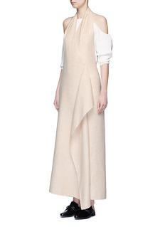 THE ROW'Groshong' halterneck drape front alpaca-wool dress