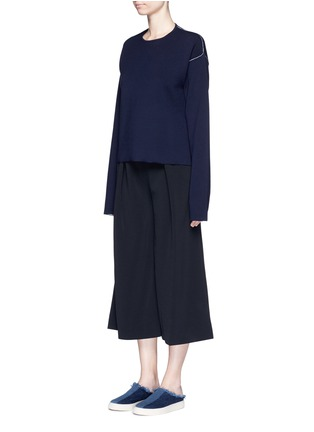 Figure View - Click To Enlarge - Ports 1961 - Contrast seam side split wool sweater