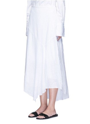 Front View - Click To Enlarge - Theory - 'Halvinnie' handkerchief hem linen skirt