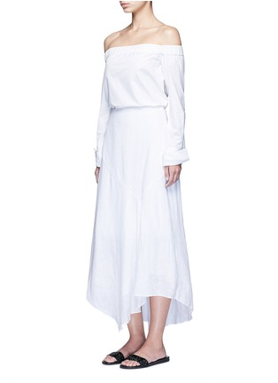 Figure View - Click To Enlarge - Theory - 'Halvinnie' handkerchief hem linen skirt