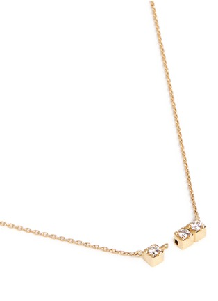 Figure View - Click To Enlarge - Shihara - 'Three Stone' diamond 18k yellow gold necklace