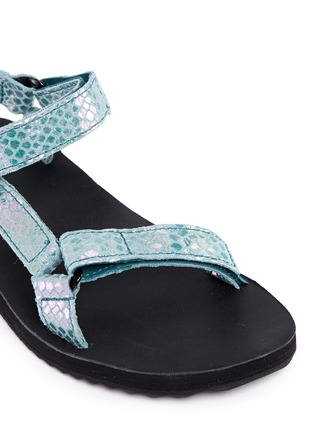 Detail View - Click To Enlarge - Teva - 'Original Universal Iridescent' snakeskin embossed leather sandals