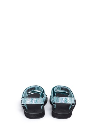 Back View - Click To Enlarge - Teva - 'Original Universal Iridescent' snakeskin embossed leather sandals