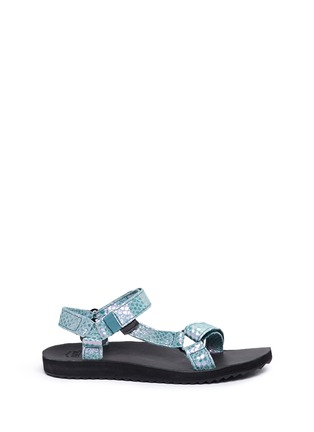 Main View - Click To Enlarge - Teva - 'Original Universal Iridescent' snakeskin embossed leather sandals
