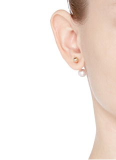Sophie Bille Brahe 'Elipse Simple' pearl 14k gold single earring