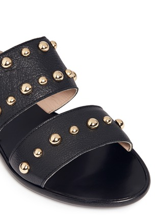 Detail View - Click To Enlarge - Lanvin - Dome stud leather slide sandals