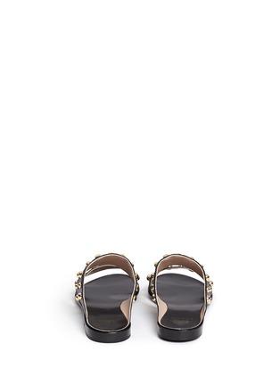 Back View - Click To Enlarge - Lanvin - Dome stud leather slide sandals