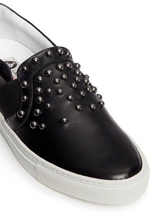 Detail View - Click To Enlarge - Lanvin - 'Basket' stud leather skate slip-ons
