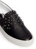 'Basket' stud leather skate slip-ons
