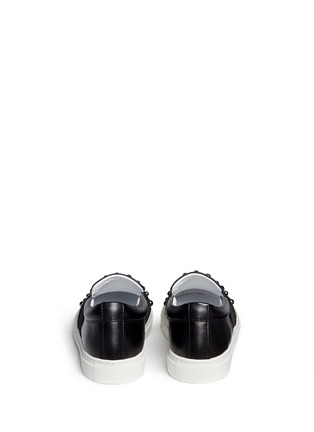 Back View - Click To Enlarge - Lanvin - 'Basket' stud leather skate slip-ons