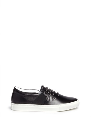 Main View - Click To Enlarge - Lanvin - 'Basket' stud leather skate slip-ons