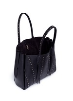 ''Small Shopper' stud tassel leather tote bag