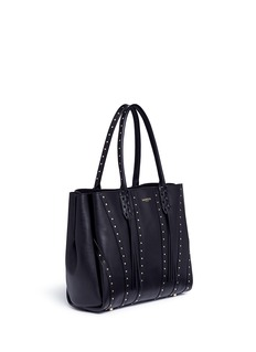 LANVIN''Small Shopper' stud tassel leather tote bag