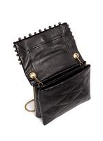 'Mini Sugar' metal pearl quilted leather flap bag