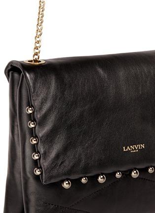 细节 - 点击放大 - LANVIN - SUGAR迷你风琴形珍珠围边羊皮单肩包