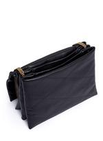 'Sugar' medium quilted leather flap bag
